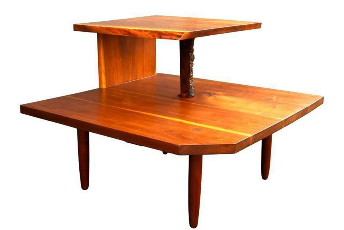 Free Edge Two-Tier Table