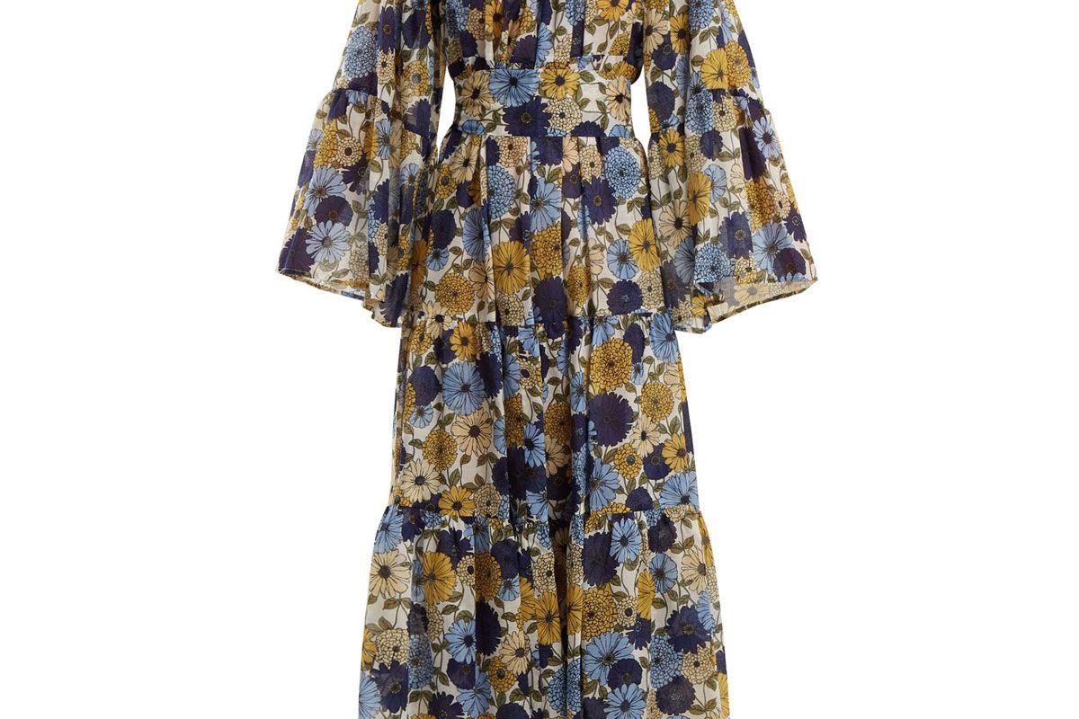 lisa marie fernandez floral print cotton dress