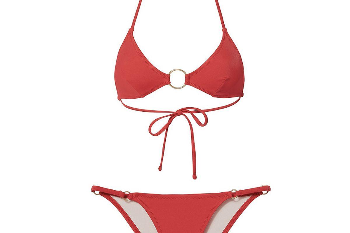 Tania Triangle Ring Detail Bikini Top