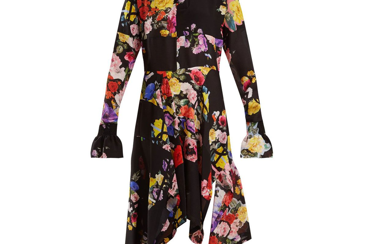 preen by thornton bregazzi nora floral print silk dress