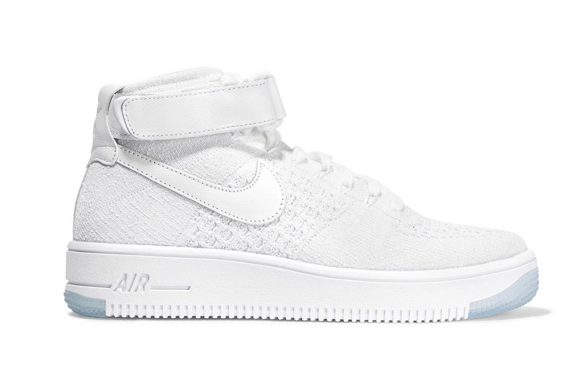 Air Force 1 Flyknit and textured-leather sneakers