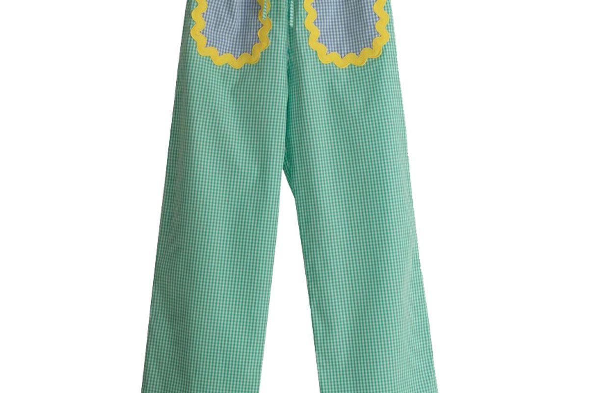 la veste turquoise pants