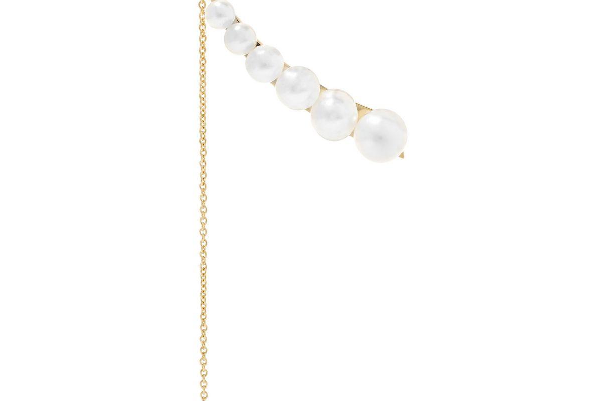 Sacai 14-karat gold pearl earring