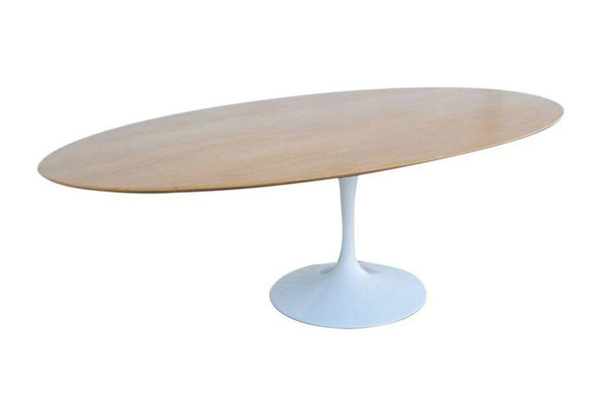 Oak Top Tulip Base Table