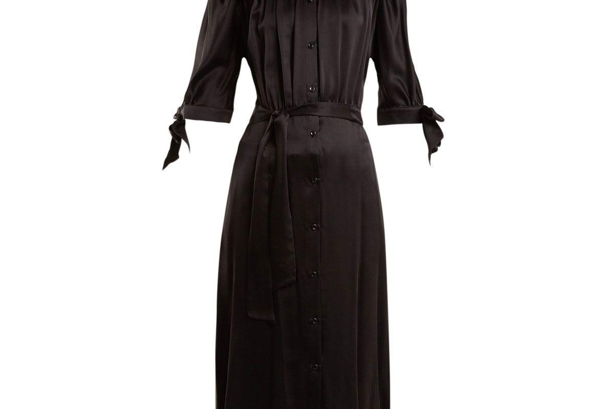 simone rocha ruffle detailed satin dress