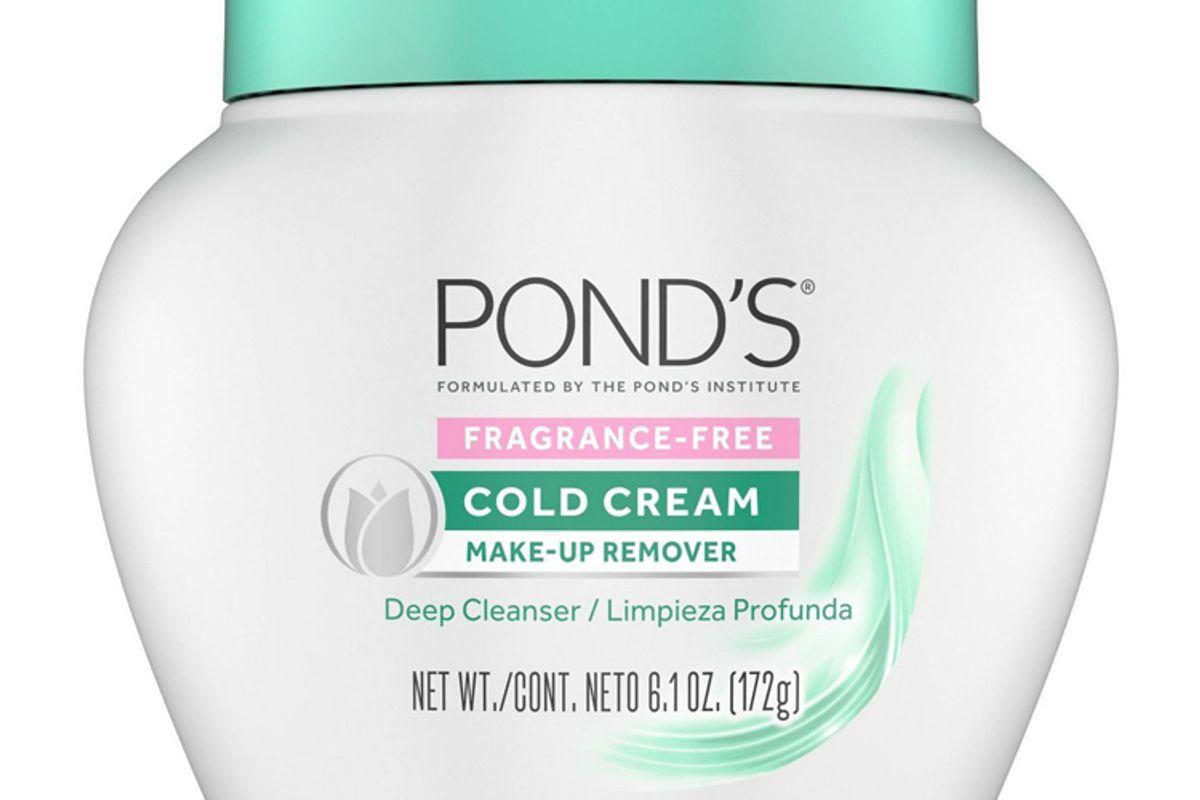 ponds fragrance free cold cream make up remover