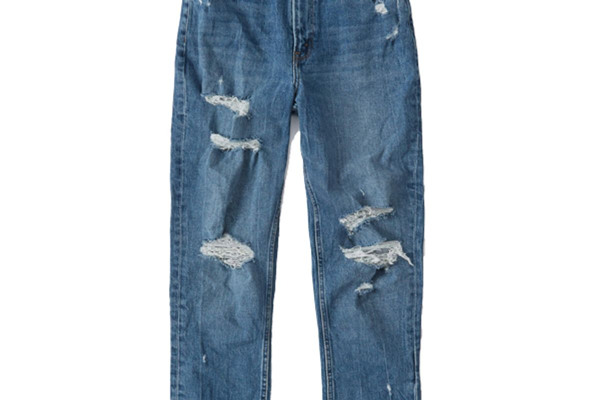 abercrombie and fitch curve love high rise mom jeans