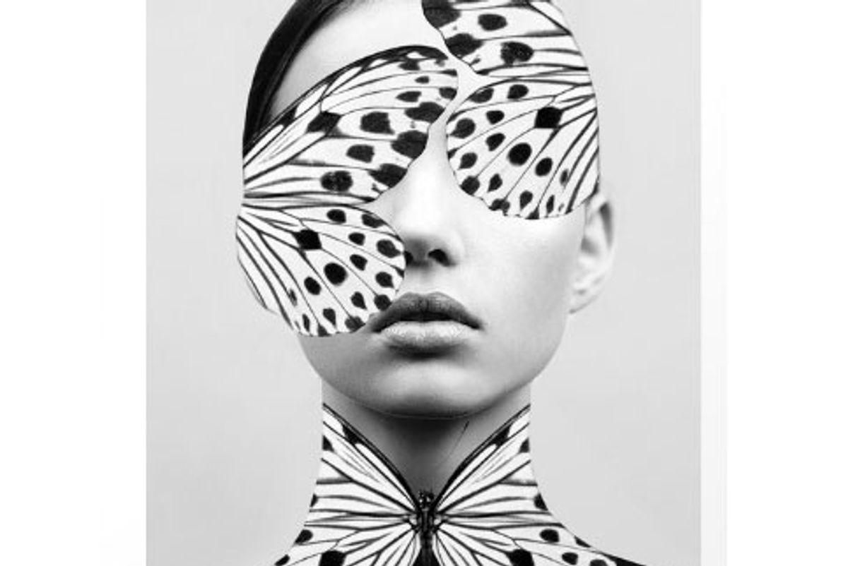 Woman Butteryfly Print