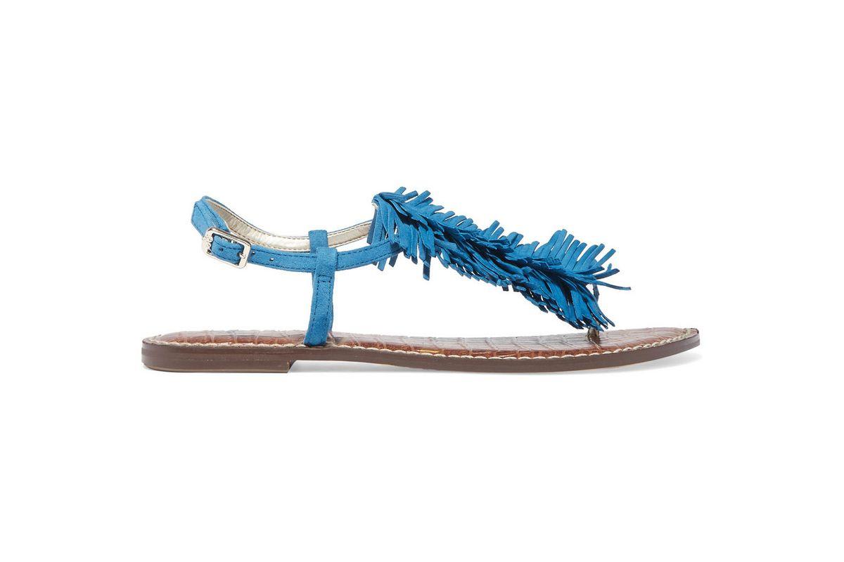 Gela fringed suede sandals