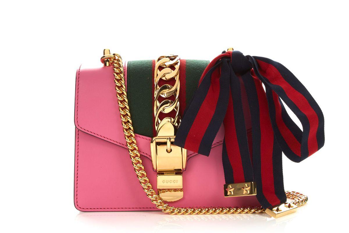 Sylvie mini buckle leather shoulder bag