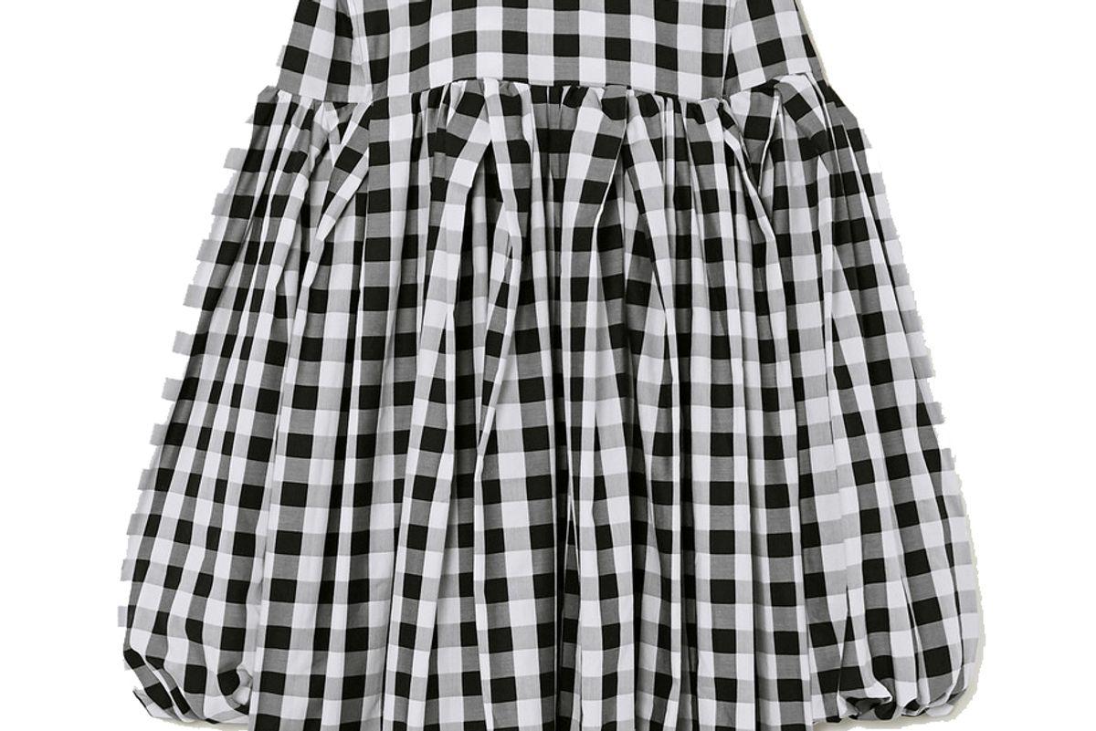 marques'almedia gingham cotton mini dress