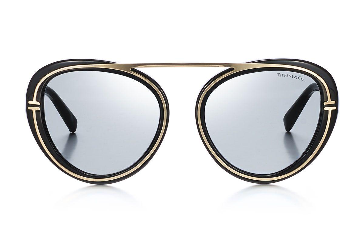 tiffany and co t aviator sunglasses in black