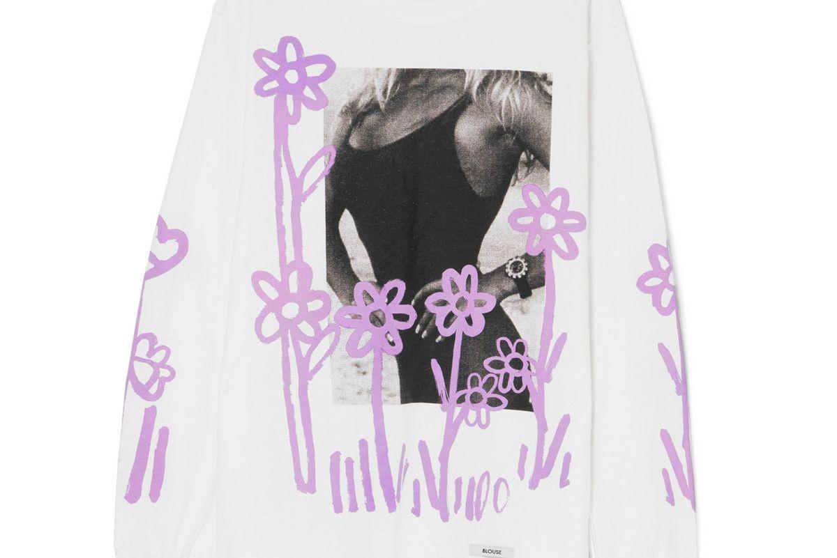blouse peak season printed cotton jersey top