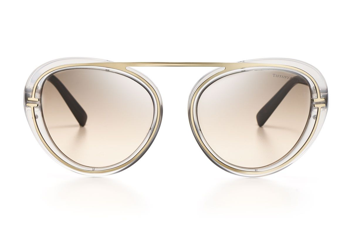 tiffany and co t aviator sunglasses in light grey