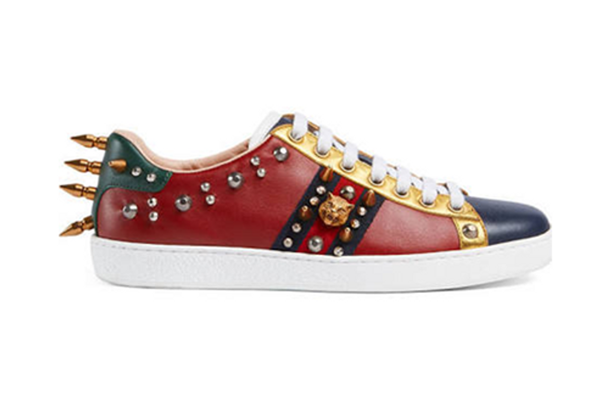 Ace Studded Leather Low-Top Sneaker