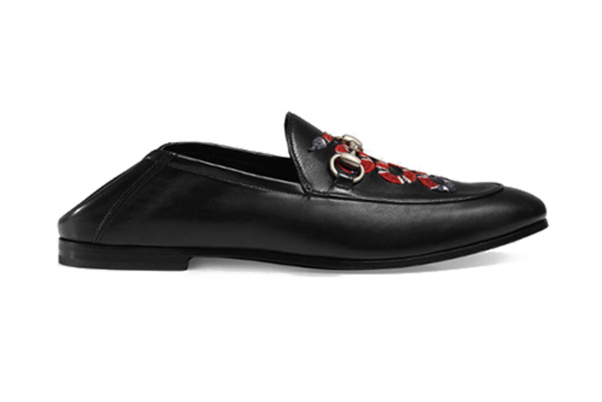 Leather Loafer with Snake