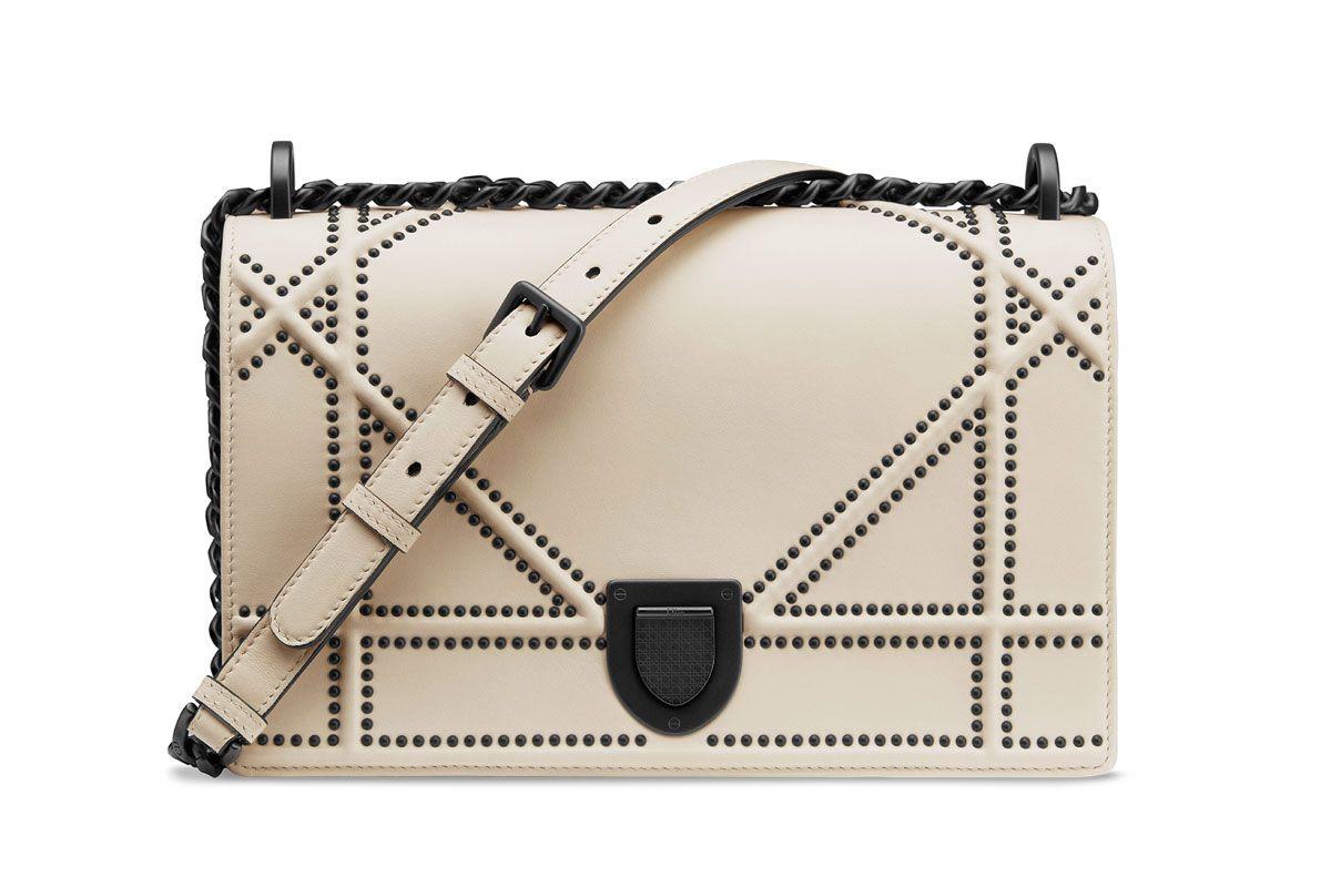 dior archicannage studded leather diorama flap bag