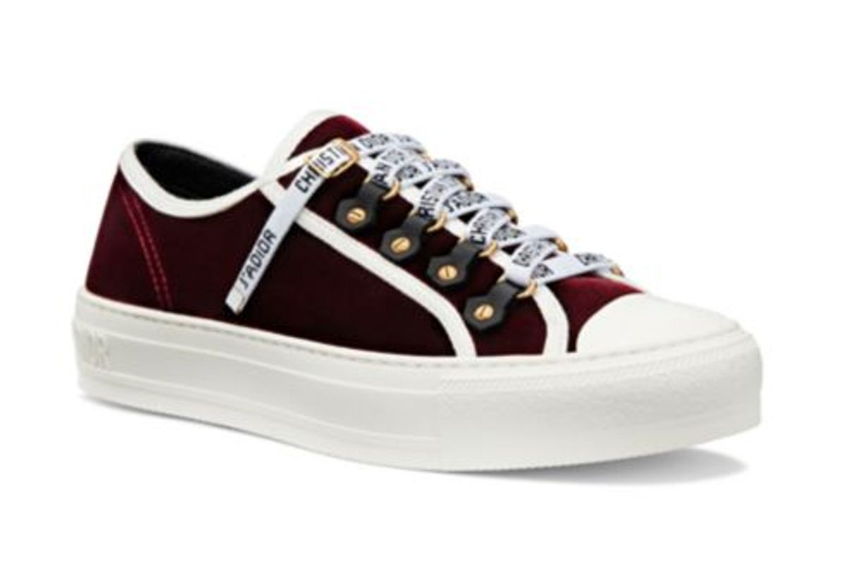 dior walk'n'dior sneaker in deep amaranth