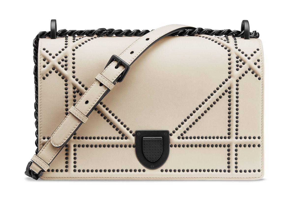 dior medium archicannage studded leather diorama flap bag