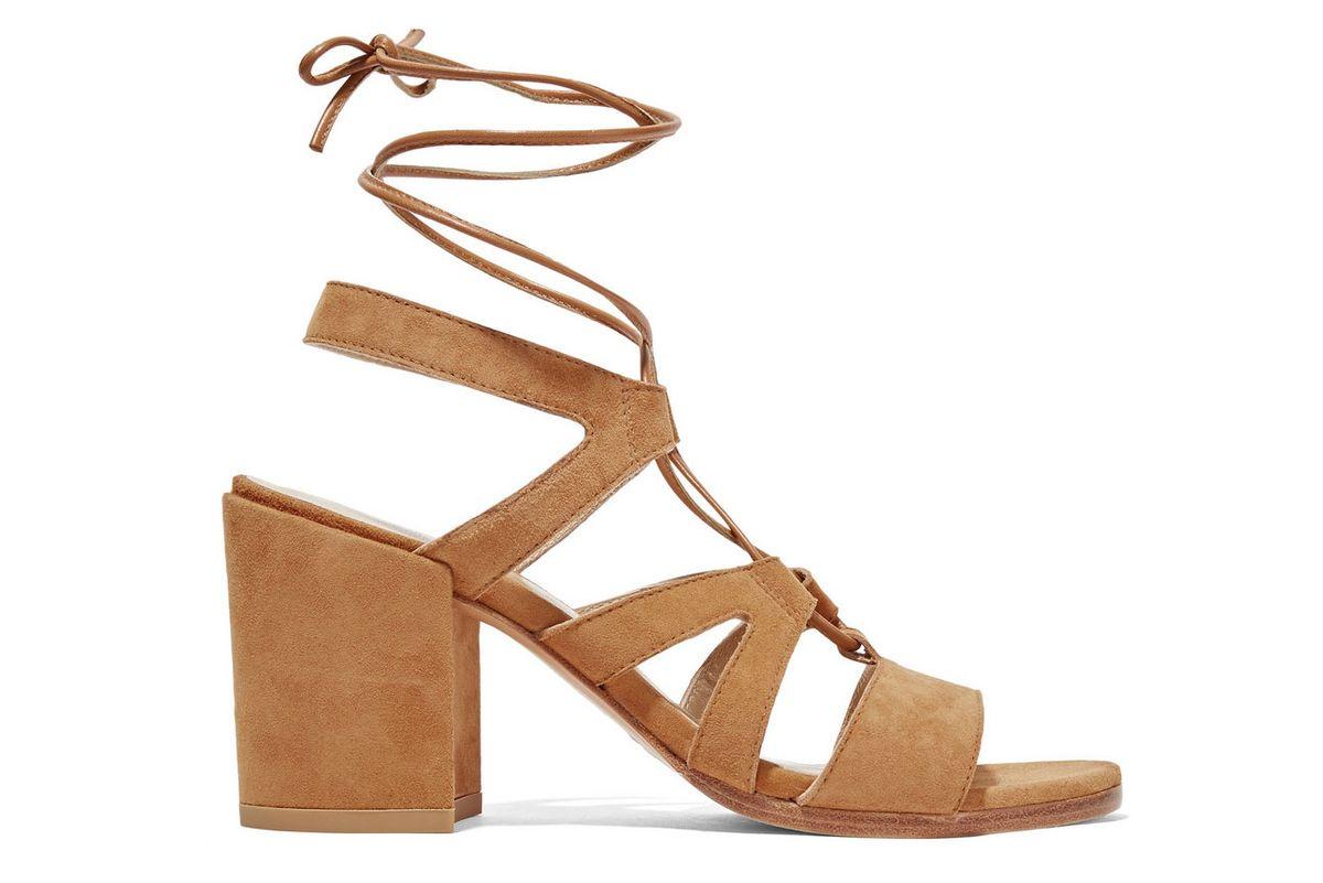 TieGirlBingo suede sandals