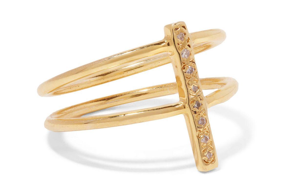 Fiesta gold-tone diamond ring