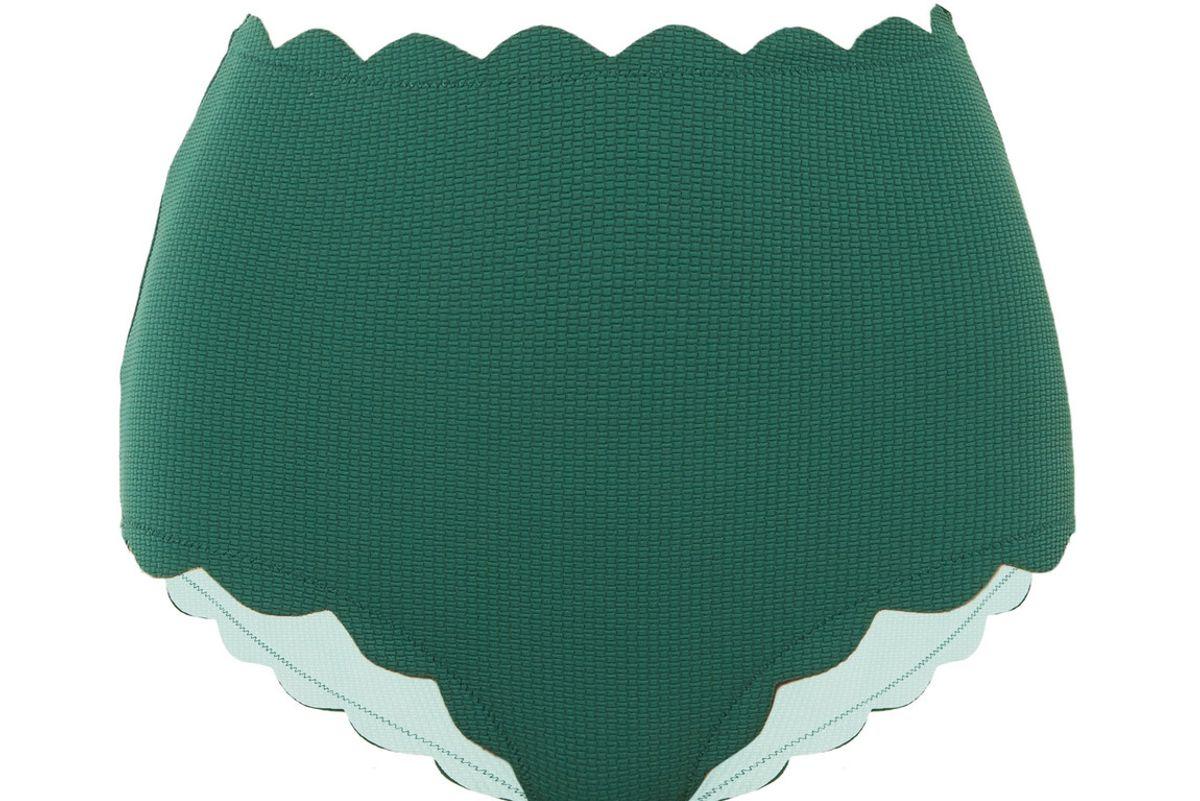 marysia santa monica scalloped bikini briefs