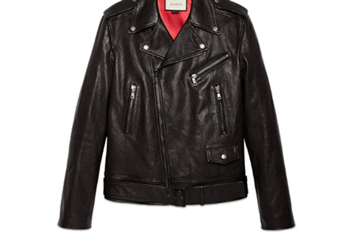 Leather Fringe Jacket with Tiger