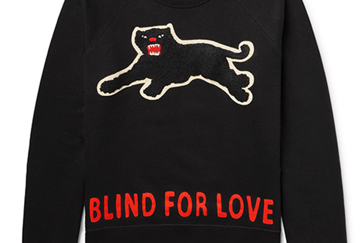 Cotton Sweatshirt with Panther
