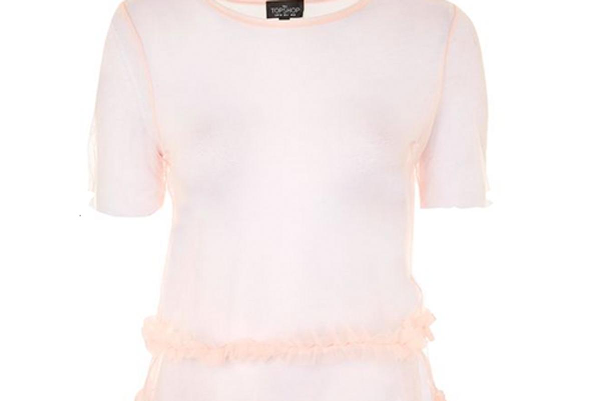 Petite Tutu Sheer Pink Shirt