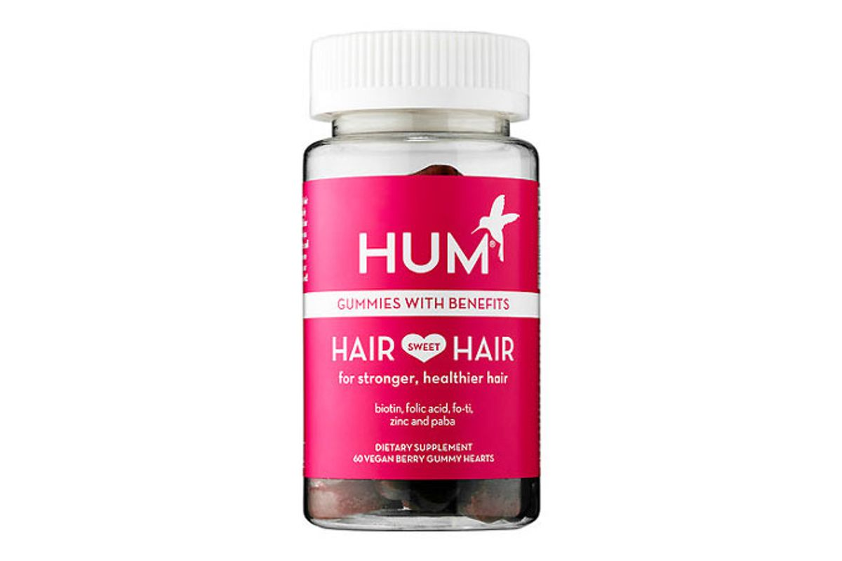 hum hair sweet hair growth vegan gummies