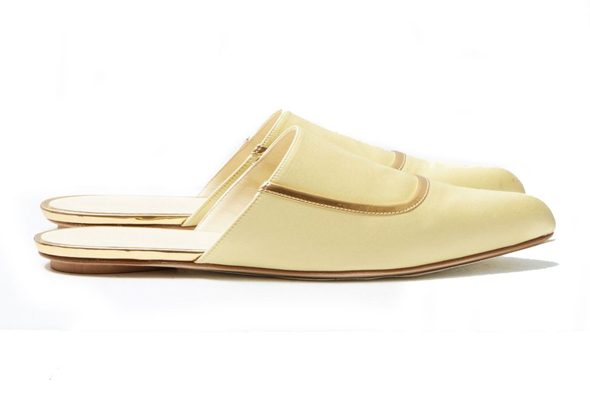 marni satin slip on flats