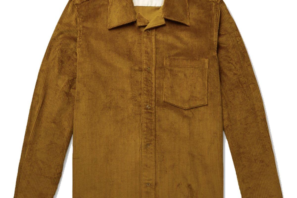 acne studios camp collar cotton corduroy overshirt