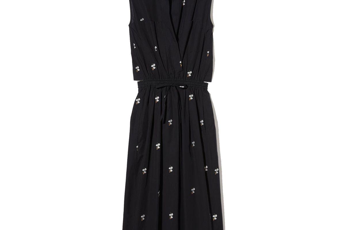 vince micro floral utility dress
