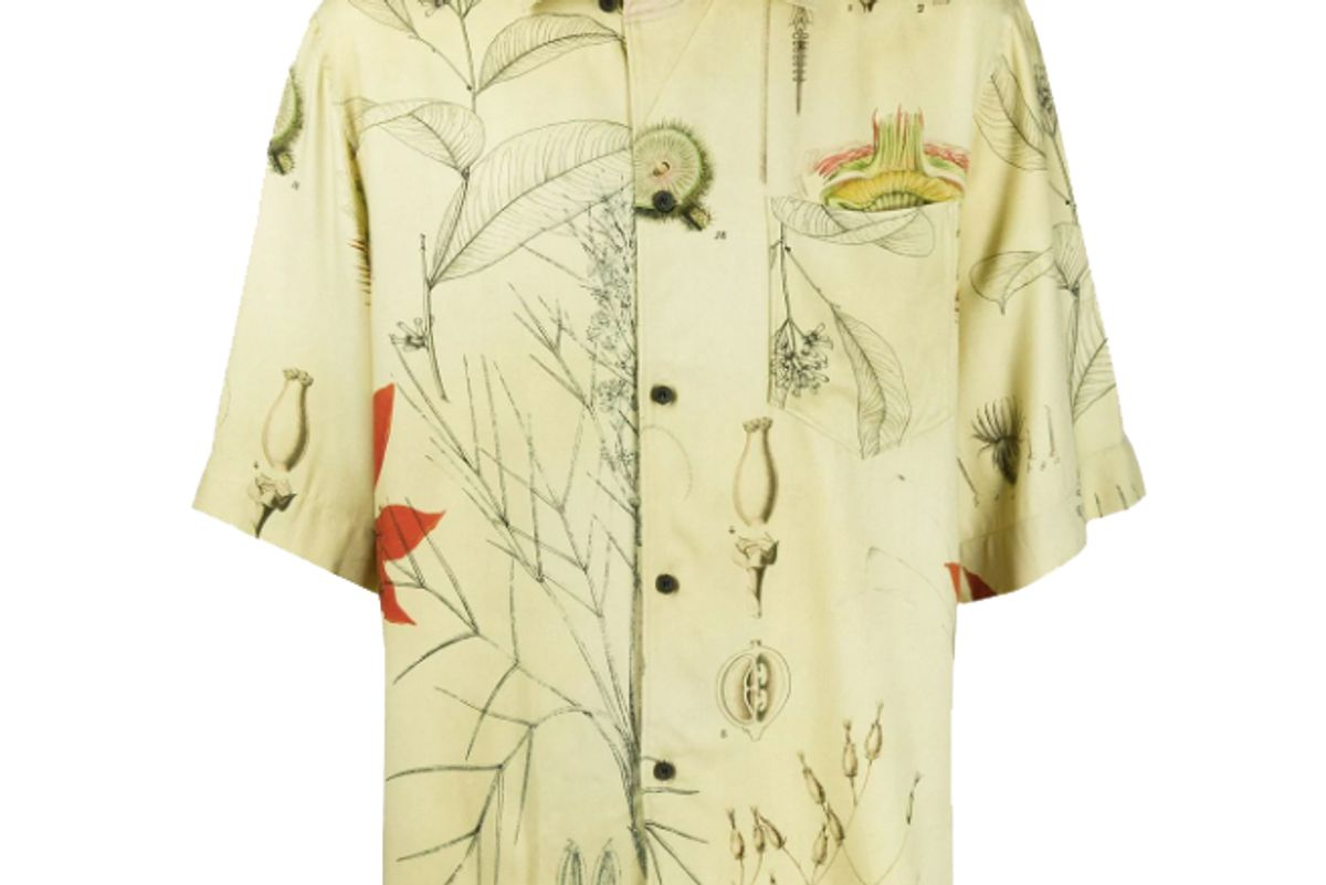 acne studios botanical print shirt