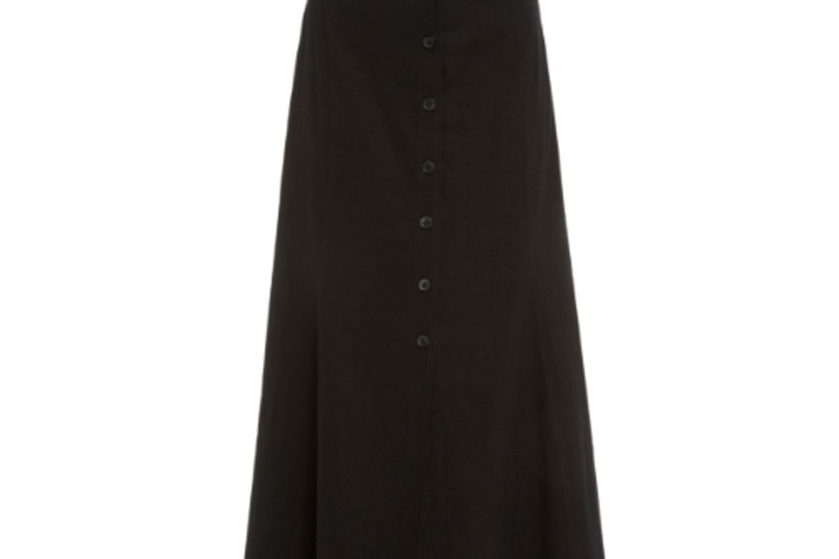 a.l.c. amelie high waist button front midi skirt
