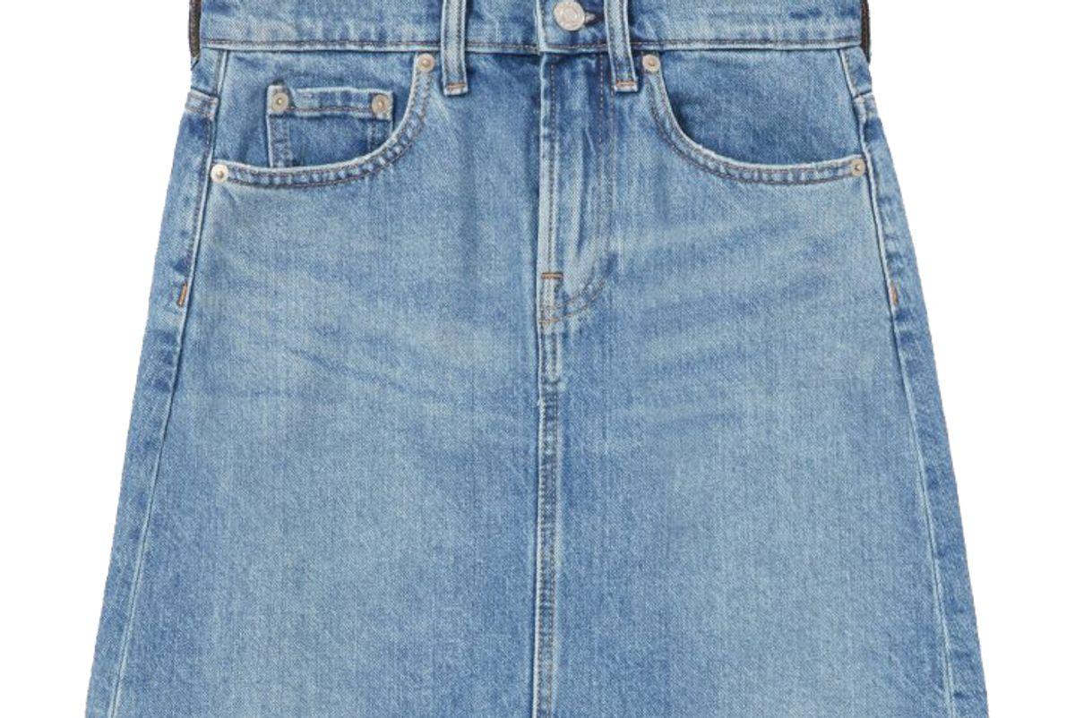 everlane the denim skirt