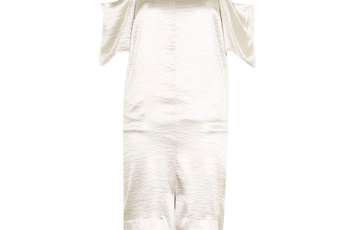 Cold Shoulder Satin Midi Dress