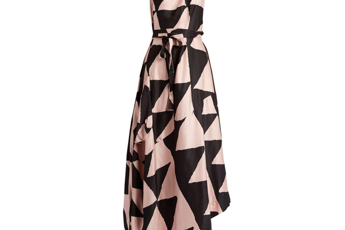 Valeria Satin Halterneck Dress