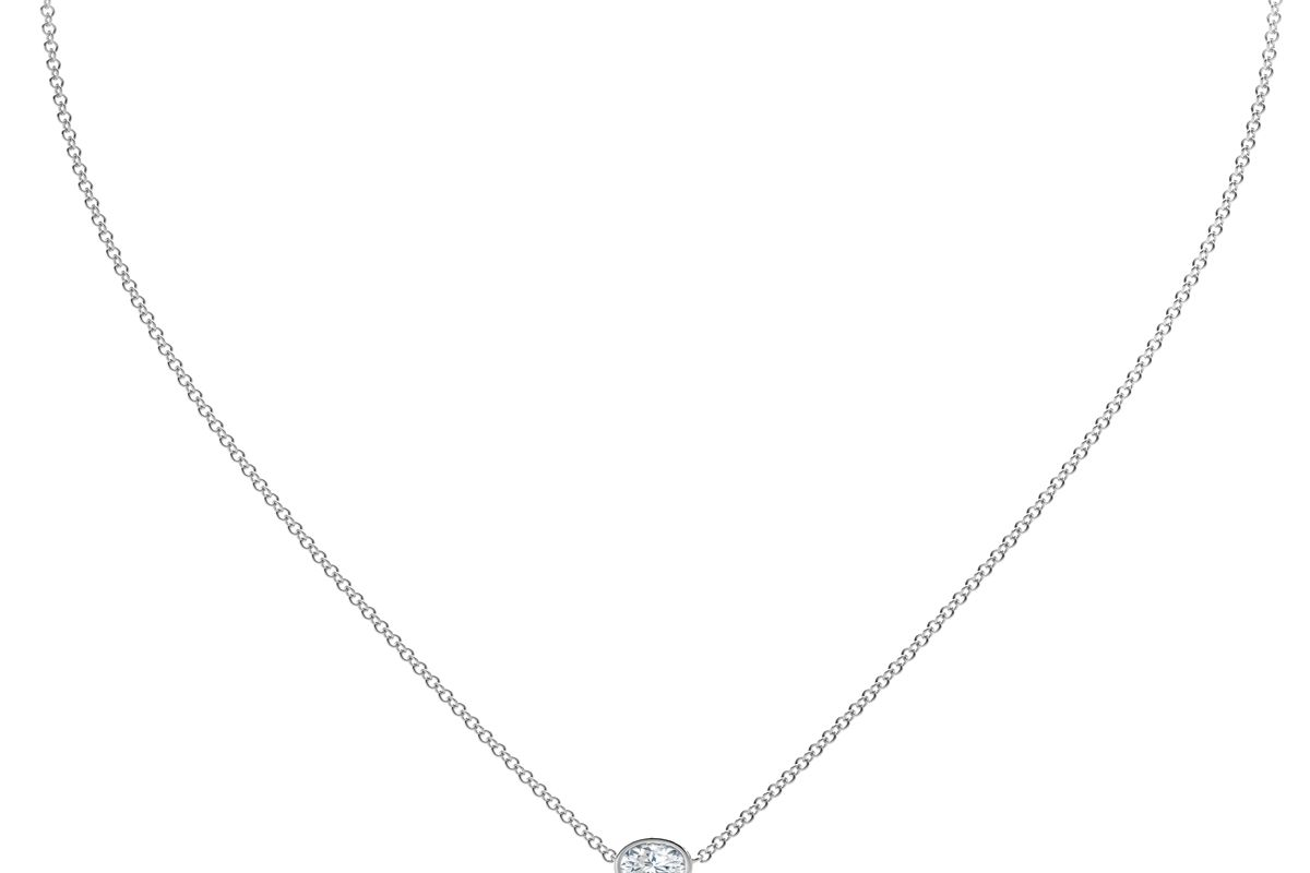 the forevermark tribute collection oval diamond necklace