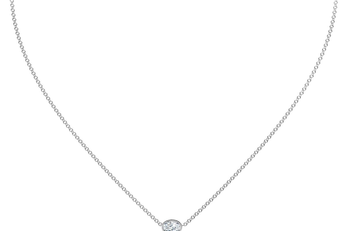 forevermark the tribute collection oval diamond necklace