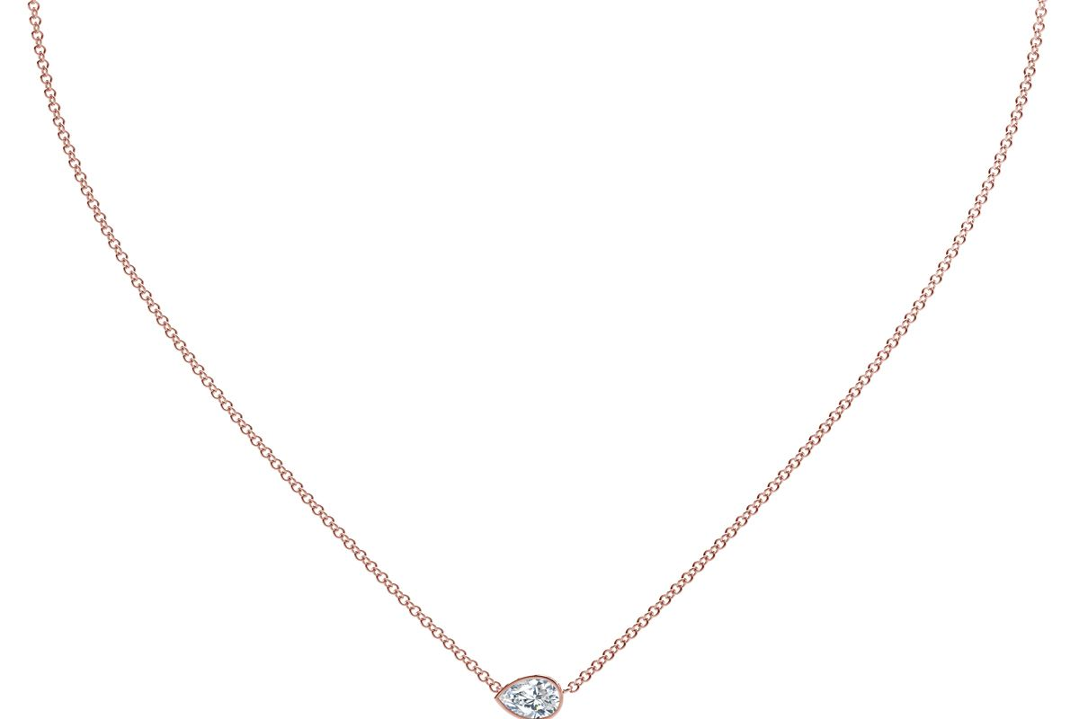 forevermark the tribute collection pear diamond necklace