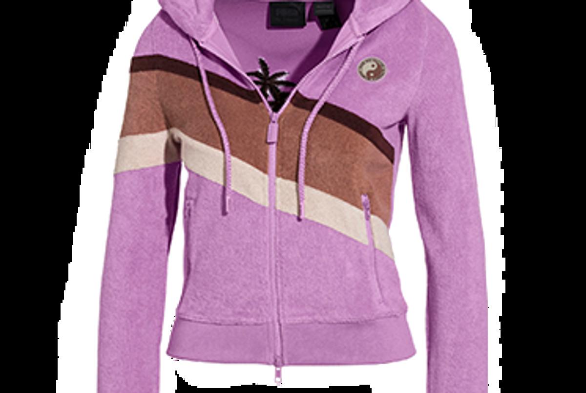 fenty puma by rihanna women's terrycloth zip up racing jacket
