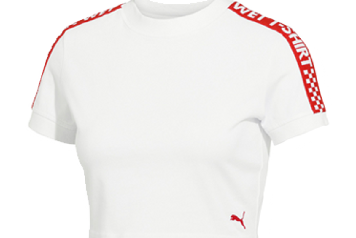 fenty puma by rihanna women's short sleeve cropped t-shirt