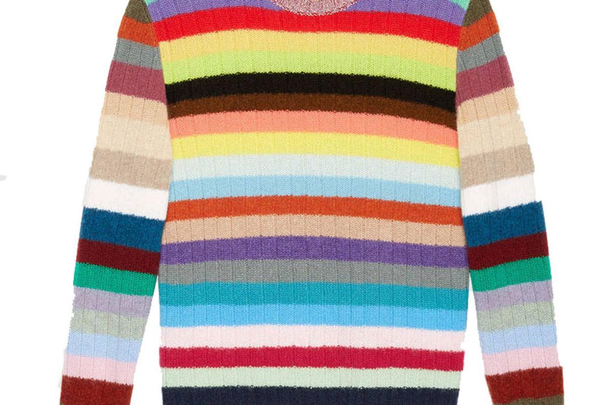 Cashmere and Merino Stripe Knit Top