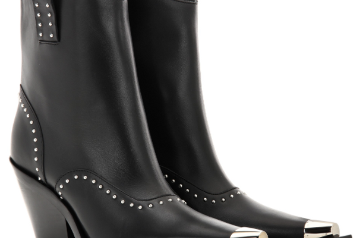 Embellished Leather Cowboy Boots