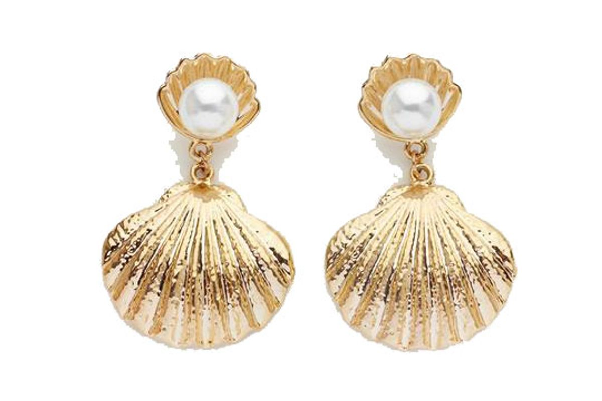 reliquia seashell pearl earrings