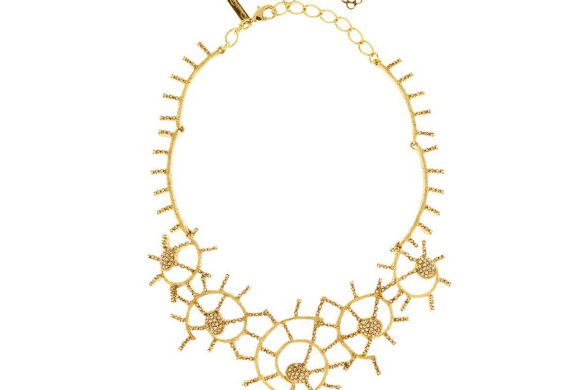 oscar de la renta shell pave necklace