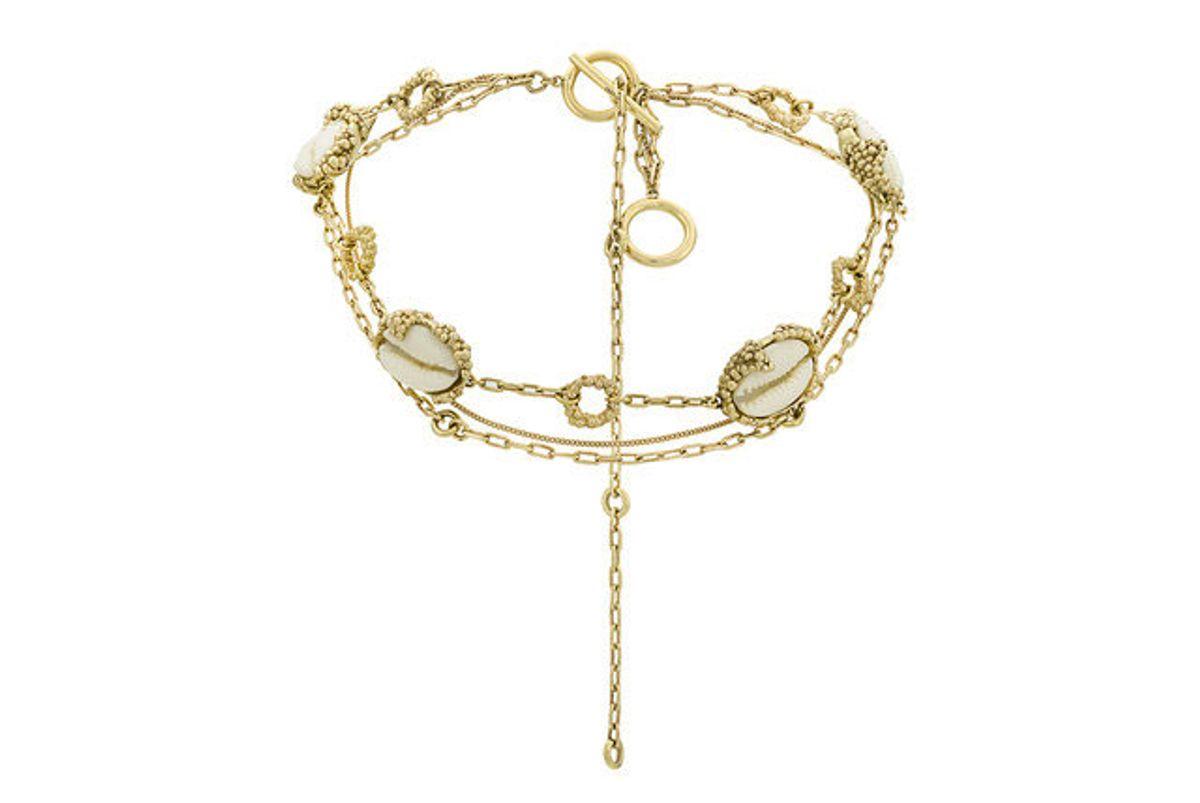 ellery seashell details necklace