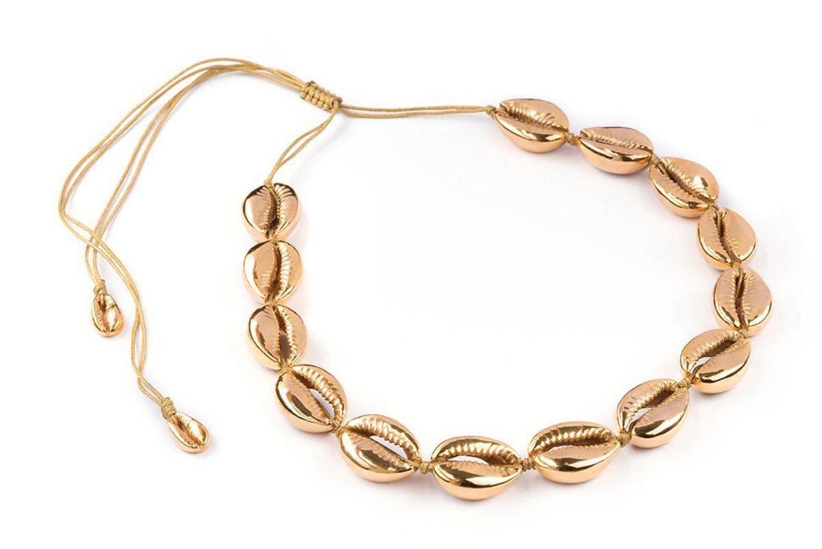 tohum gold puka necklace