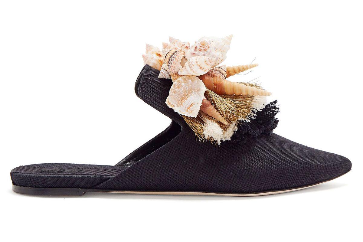 sanayi 313 shell and tassle slipper